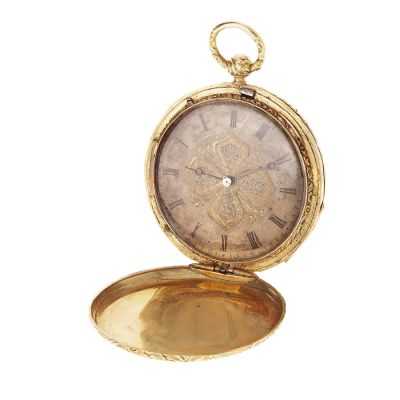 """Henry Grandjean"" pocket watch, saboneta and remontoir.Measures: 4 cm (diameter)."
