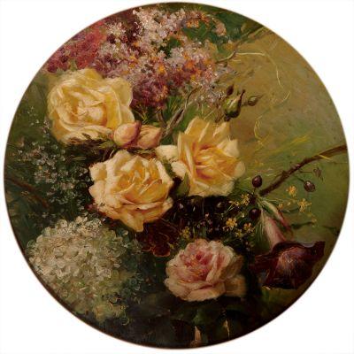 """RAMÓN STOLZ I SEGUÍ (Valencia 1872- 1924).""""Rosas""""."""