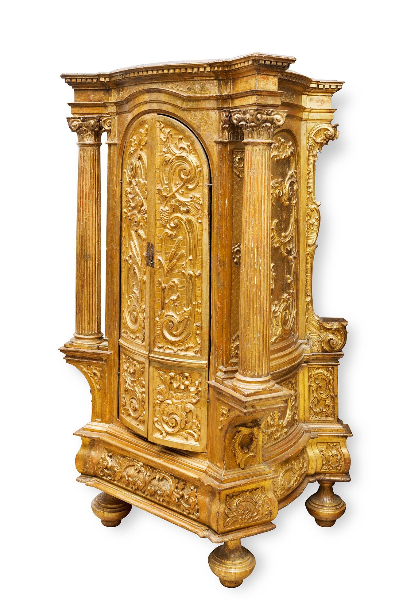 Tabern Culo Finales Siglo Xvi Estilo Renacentista Madera Dorada  # Muebles Renacentistas