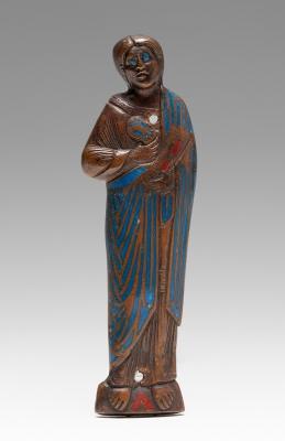 Evangelista románico. Limoges, siglo XIII.