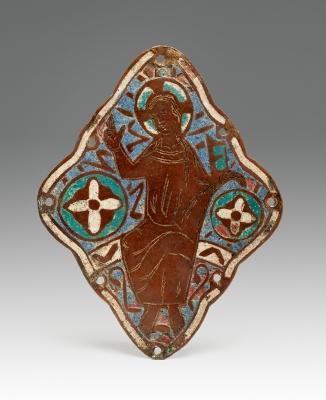 Plaqueta románica. Limoges, Francia, ca. 1200.