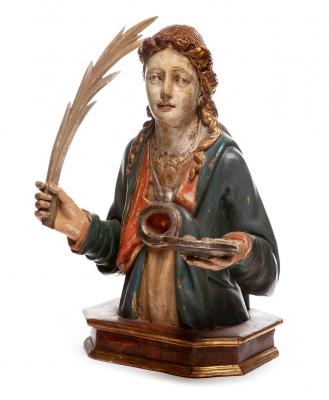 Busto relicario. España, siglo XVI-XVII.