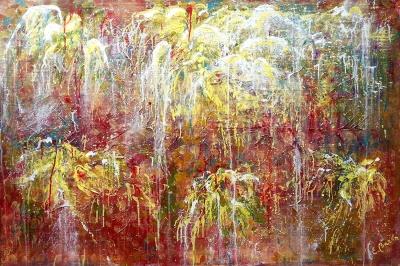 Con texturas y relieves. Elena Barón .