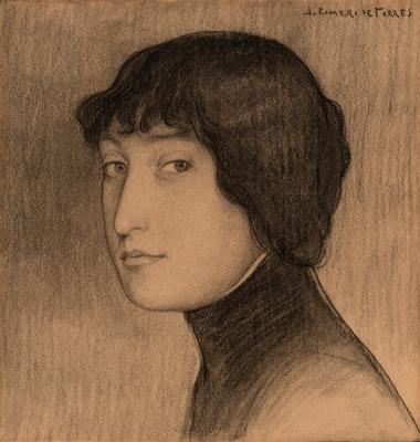 """""""Retrato femenino"""". ROMERO DE TORRES, Julio"""