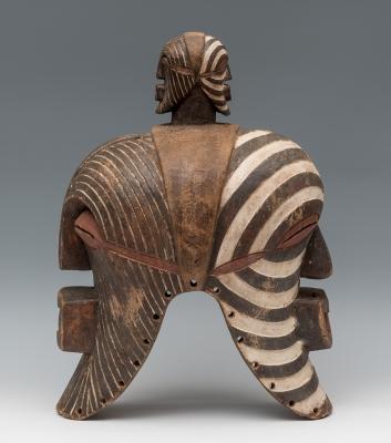 Máscara doble del pueblo Songye; R.D.