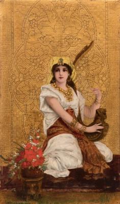 """Odalisca"". Escuela Alemana, h. 1890."