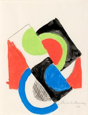 """Rythme couleur"", 1967. SONIA DELAUNAY"