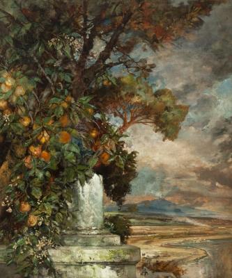 """""""Vista del Vesubio"""", 1897. ERNEST PREYER"""