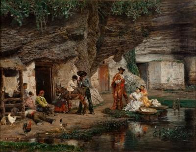 """""""Casas junto al río"""". MUÑOZ DEGRAÍN, Antonio"""