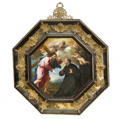 """""""Aparición de Cristo a san Ignacio de Loyola en su cami"""
